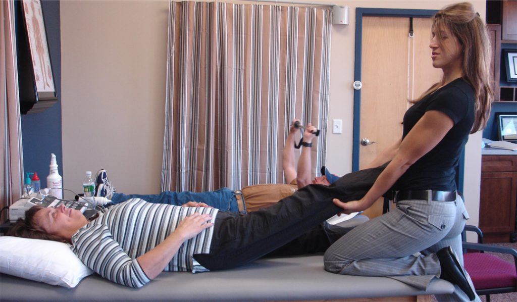 Dr. Kate Serodio of Hampton Physical Therapy performs Neural Mobilization